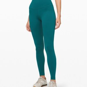 Lululemon Wunder Under Emerald tight, size 8
